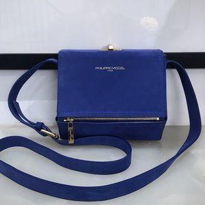Philippe Model authentic blue suede purse